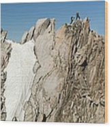 Mountaineers, French Alps Wood Print