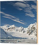 Mountains And Glaciers, Paradise Bay Wood Print