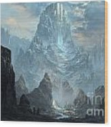 Mountains  Castles  Fantasy   Artwork   Wood Print