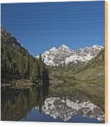 Mountains Co Maroon Bells 12 Wood Print