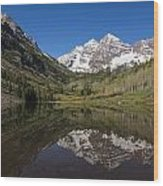 Mountains Co Maroon Bells 16 Wood Print