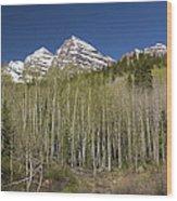 Mountains Co Maroon Bells 23 Wood Print