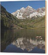 Mountains Co Maroon Bells 8 Wood Print