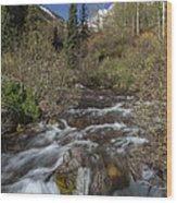Mountains Co Maroon Creek 1 Wood Print