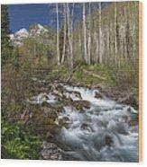 Mountains Co Maroon Creek 4 Wood Print