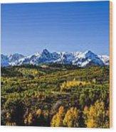Mountain's Gold Wood Print