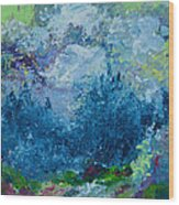 Mountains In Spring Wood Print