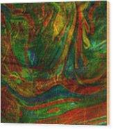 Mountains In The Rain Wood Print