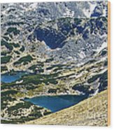 Mountains Lakes Wood Print
