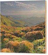 Mountains Landscape Wood Print