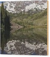 Mountains Maroon Bells 11 Wood Print