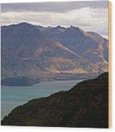 Mountains Meet Lake #4 Wood Print