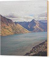 Mountains Meet Lake #5 Wood Print
