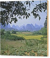 mountains near Yangshou and Guilin  Wood Print