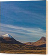 Mountains Of Assynt Panorama Wood Print