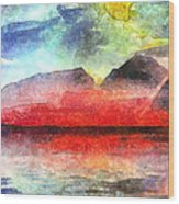 Mountains Of Fire Wood Print