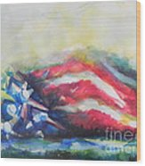 Mountains Of Freedom Wood Print
