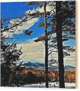 Mountains Rising Wood Print