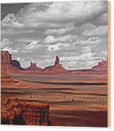 Mountains, West Coast, Monument Valley Wood Print