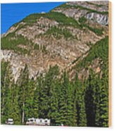 Mountains West Of Kicking Horse Campground In Yoho Np-bc Wood Print