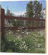 Mountainside Lawn Wood Print