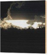 Mountaintop Drama Wood Print