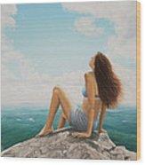 Mountaintop Meditation Wood Print