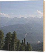 Mountainview Krasnaya Polyana Wood Print