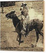 Mounted Shooting Wood Print