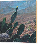 Mourning Dove Desert Sands Wood Print
