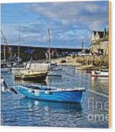 Mousehole Harbour Morning Wood Print