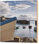 Mousehole Harbour On A May Morning Wood Print