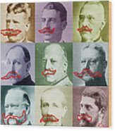 Moustaches Wood Print