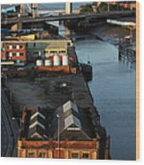 Mouth Of The River Hull Wood Print by Anthony Bean