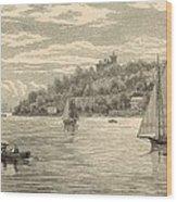 Mouth Of The Shrewsbury River 1872 Engraving Wood Print