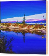 Mouth Of The Two Hearted River Wood Print