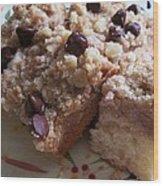 Mouthwatering Crumb Cake Wood Print