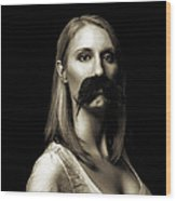 Movember First Wood Print by Ashley King