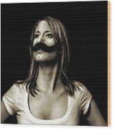 Movember Fourth Wood Print