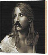Movember Nineteenth Wood Print