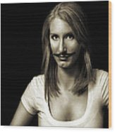 Movember Second Wood Print