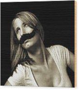 Movember Seventeenth Wood Print
