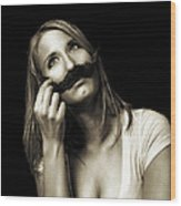 Movember Seventh Wood Print by Ashley King