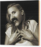 Movember Sixteenth Wood Print