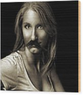 Movember Sixth Wood Print