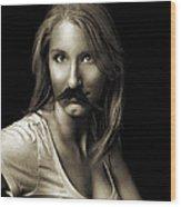 Movember Sixth Wood Print by Ashley King