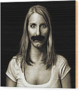 Movember Third Wood Print by Ashley King