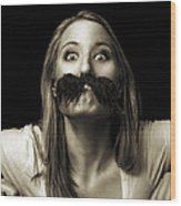 Movember Twelfth Wood Print by Ashley King