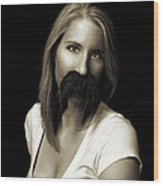Movember Twentieth Wood Print by Ashley King