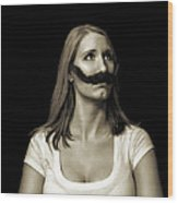 Movember Twentyfirst Wood Print